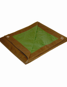 Brown Green Heavy Duty Poly Tarps