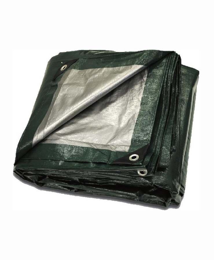 Green Silver Poly Tarps Heavy Duty Reversible