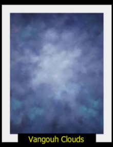 Old Master Style Muslin Backdrop Vangouh Clouds