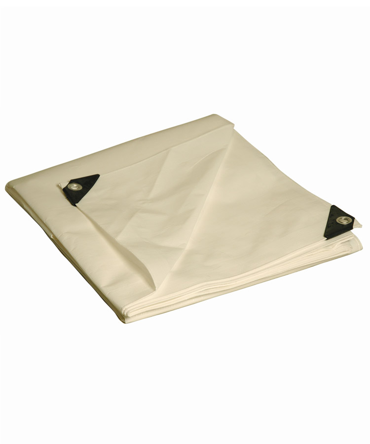White Heavy Duty Poly Tarps Durable Water Resistant