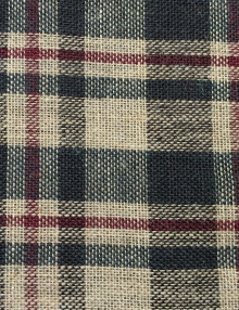 Printed Burlap Brown Plaid