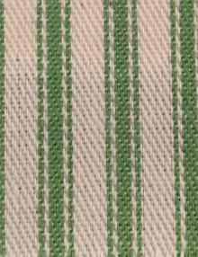 Woven cotton stripe ticking fabric