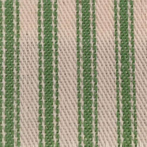 Woven cotton stripe ticking fabric