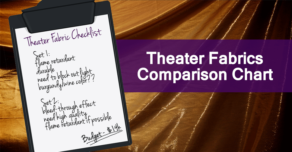 Stage Curtain Comparison Chart