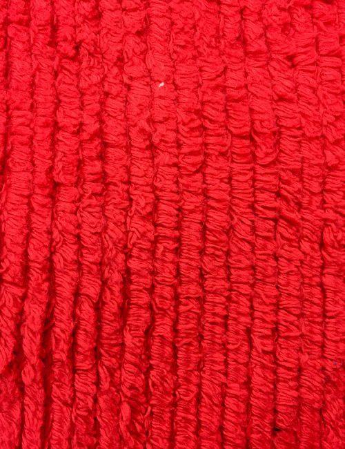 Chenille Cotton Fabric Red