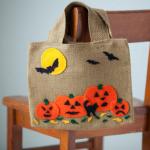 Burlap Trick-or-Treat Bag