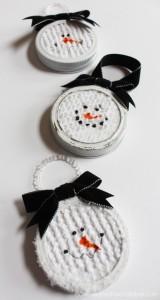Chenille Snowman Ornaments