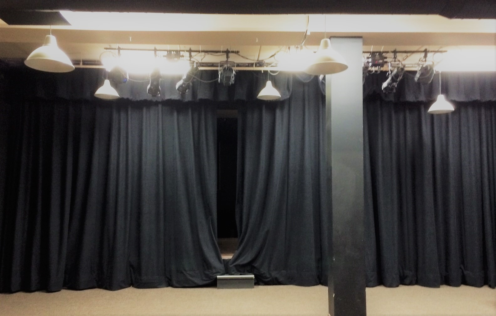 Black Velour Fabric Velour Stage Curtains Chicago Canvas Supply