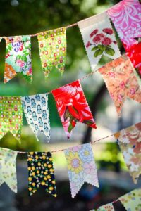 Summer DIY Party Banner Via blog.chickabug.com