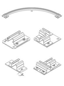 Ceiling Support Hardware - Curtain Track