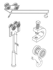 Curtain Trolleys - Curtain Track Hardware