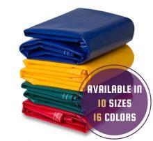 Vinyl Coated Polyester Waterproof Tarpaulins 18 Oz