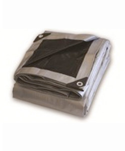 Silver Black Heavy Duty Poly Tarps