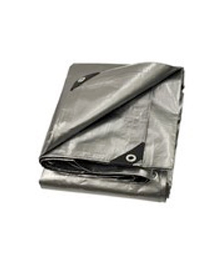 Silver Heavy Duty Poly Tarps Durable Water Resistant
