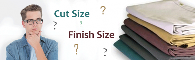 Difference of Cut Size - Finish Size - Tarps