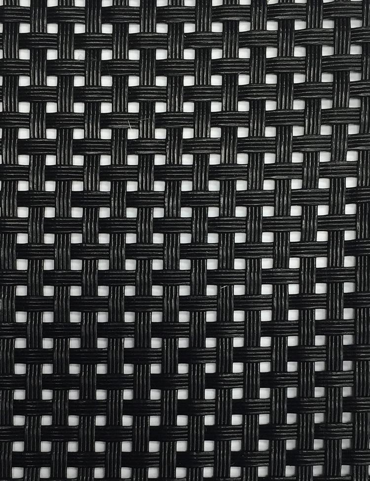 Black Vinyl Coated Mesh Fabric Iron Mesh Chicago