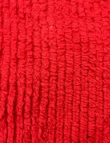 Chenille Cotton Fabric Red