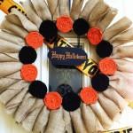 Halloween Burlap Wreath