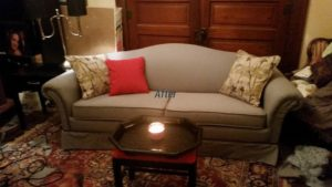 DIY Drop Cloth Upholstery - Customer Photo