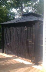 40 uses for tarpaulins; mesh tarps; DIY gazebo