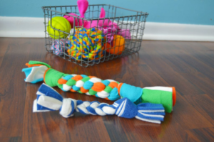 Dog Toy via https://www.marymarthamama.com/crafty-cat/diy-fleece-dog-toy-tutorial/