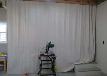 Natural Dropcloth DIY Curtains for Construction and Renovation