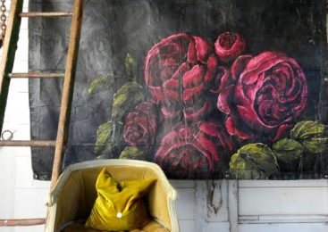 OD Canvas Tarp Flower Painting